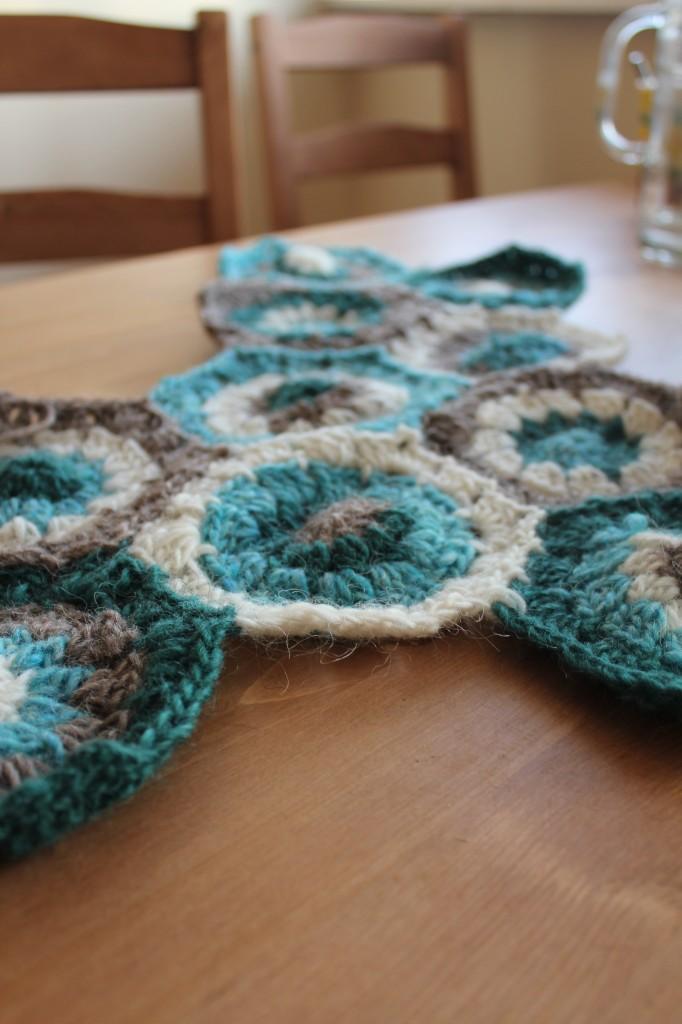 hexagon blanket crochet