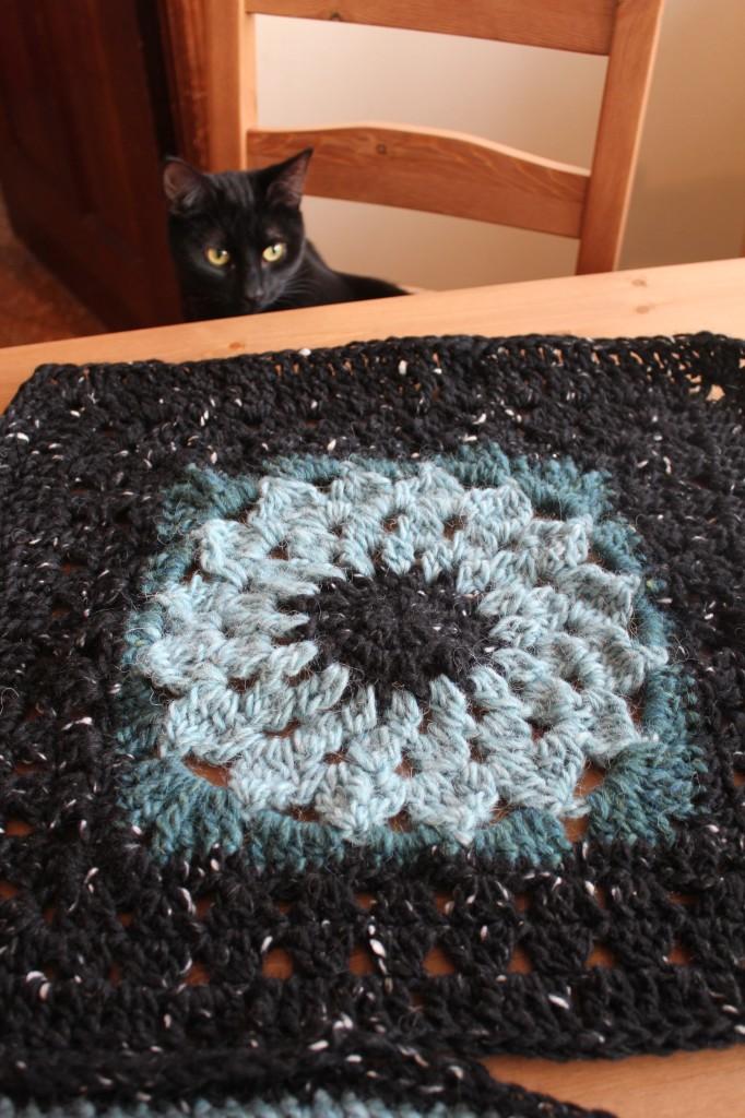 "12"" Kata granny square crochet along"