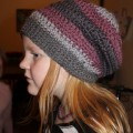 Slouchy hipster hat crochet – free pattern