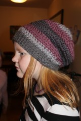 Slouchy hipster hat crochet - free pattern