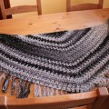 V-stitch shawl crochet – (kría)