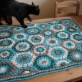 Crochet hexagon blanket – finished at last!