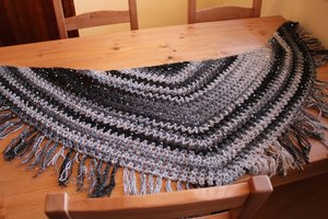 v-stitch shawl crochet