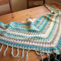 V-stitch crochet shawl – another one I made